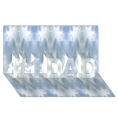 Ice Crystals Abstract Pattern #1 Dad 3d Greeting Card (8x4)  by Costasonlineshop