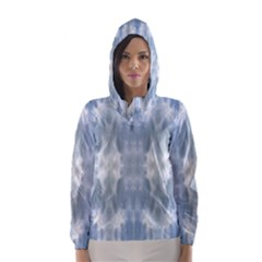 Ice Crystals Abstract Pattern Hooded Wind Breaker (women) by Costasonlineshop