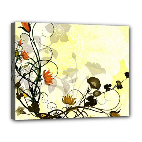Wonderful Flowers With Leaves On Soft Background Canvas 14  X 11  by FantasyWorld7