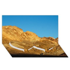 Death Valley Twin Heart Bottom 3d Greeting Card (8x4)  by trendistuff