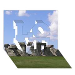 Stonehenge Love 3d Greeting Card (7x5)  by trendistuff