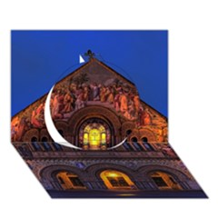 Stanford Chruch Circle 3d Greeting Card (7x5)  by trendistuff