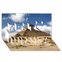 Pyramid Giza Best Wish 3d Greeting Card (8x4)  by trendistuff