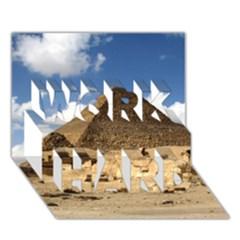Pyramid Giza Work Hard 3d Greeting Card (7x5)  by trendistuff