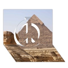 Pyramid Egypt Peace Sign 3d Greeting Card (7x5)  by trendistuff