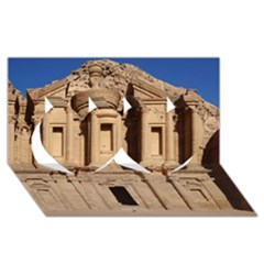 Petra Jordan Twin Hearts 3d Greeting Card (8x4)  by trendistuff