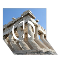 Parthenon Peace Sign 3d Greeting Card (7x5)  by trendistuff