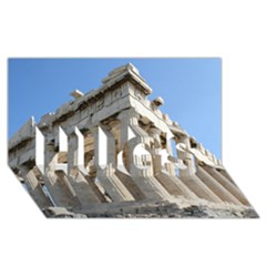 PARTHENON HUGS 3D Greeting Card (8x4)  by trendistuff