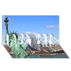 Ny Liberty 1 Best Sis 3d Greeting Card (8x4)  by trendistuff
