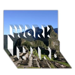 Machu Picchu Work Hard 3d Greeting Card (7x5)  by trendistuff