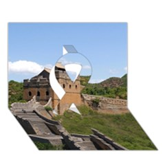 GREAT WALL OF CHINA 3 Ribbon 3D Greeting Card (7x5)  by trendistuff