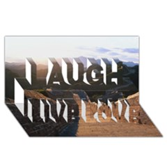 Great Wall Of China 2 Laugh Live Love 3d Greeting Card (8x4)  by trendistuff