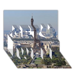 Eiffel Tower 2 Get Well 3d Greeting Card (7x5)  by trendistuff