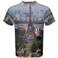 Eiffel Tower 2 Men s Cotton Tees by trendistuff