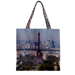 Eiffel Tower 2 Zipper Grocery Tote Bags by trendistuff