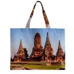 Chaiwatthanaram Tiny Tote Bags by trendistuff