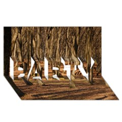 Wood Shadows Party 3d Greeting Card (8x4)  by trendistuff