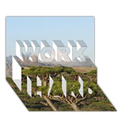 Socotra, Yemen Work Hard 3d Greeting Card (7x5)  by trendistuff