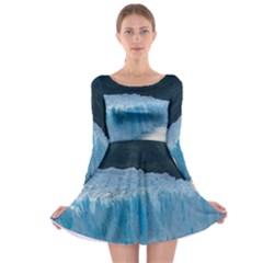 Perito Moreno Glacier Long Sleeve Skater Dress