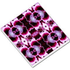 White Burgundy Flower Abstract Small Memo Pads by Costasonlineshop