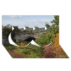 Natural Arch Twin Hearts 3d Greeting Card (8x4)  by trendistuff