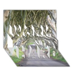Dark Hedges, Ireland Work Hard 3d Greeting Card (7x5)  by trendistuff