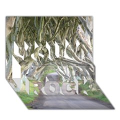 Dark Hedges, Ireland You Rock 3d Greeting Card (7x5)  by trendistuff