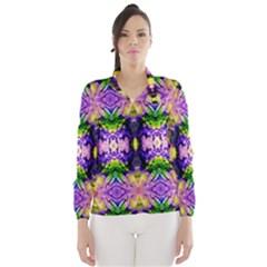 Green,purple Yellow ,goa Pattern Wind Breaker (Women) by Costasonlineshop