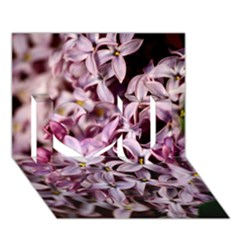 PURPLE LILACS I Love You 3D Greeting Card (7x5)  by trendistuff