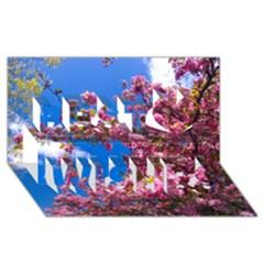 Pink Flowers Best Wish 3d Greeting Card (8x4)  by trendistuff