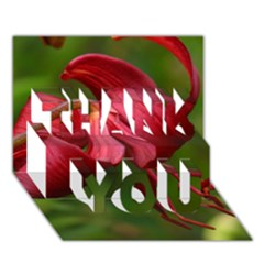 LILIUM RED VELVET THANK YOU 3D Greeting Card (7x5)