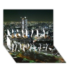 Tokyo Night You Are Invited 3d Greeting Card (7x5)  by trendistuff
