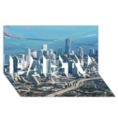 Miami Party 3d Greeting Card (8x4)  by trendistuff