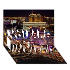 Las Vegas 2 You Are Invited 3d Greeting Card (7x5)  by trendistuff
