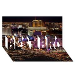 Las Vegas 2 Best Bro 3d Greeting Card (8x4)  by trendistuff