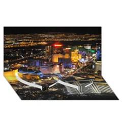 Las Vegas 1 Twin Heart Bottom 3d Greeting Card (8x4)  by trendistuff