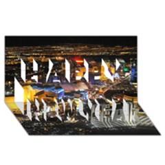 Las Vegas 1 Happy New Year 3d Greeting Card (8x4)  by trendistuff