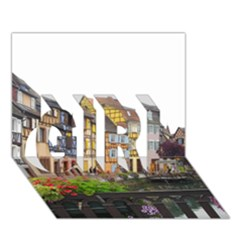 Colmar France Girl 3d Greeting Card (7x5)  by trendistuff