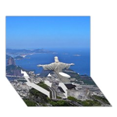 Christ On Corcovado Love Bottom 3d Greeting Card (7x5)  by trendistuff