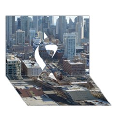 Chicago Ribbon 3d Greeting Card (7x5)  by trendistuff
