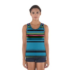 Chevrons And Triangles Women s Sport Tank Top