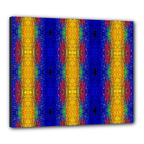 Cool  Abstract Neon Pattern Canvas 24  X 20  by Costasonlineshop