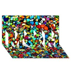 Colorful Stones, Nature Mom 3d Greeting Card (8x4)  by Costasonlineshop