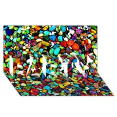 Colorful Stones, Nature Party 3d Greeting Card (8x4)  by Costasonlineshop