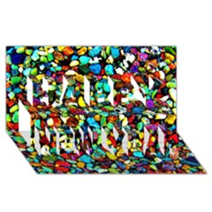 Colorful Stones, Nature Happy New Year 3d Greeting Card (8x4)  by Costasonlineshop