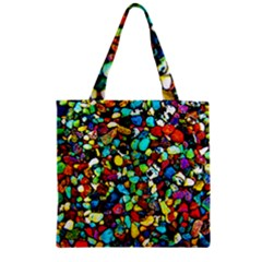 Colorful Stones, Nature Zipper Grocery Tote Bags by Costasonlineshop