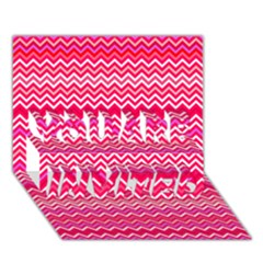 Valentine Pink And Red Wavy Chevron Zigzag Pattern You Are Invited 3d Greeting Card (7x5)  by PaperandFrill