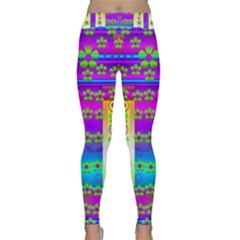 Peace And Groovy Yoga Leggings  by pepitasart