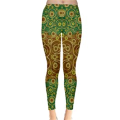 The Gothic Starry Night Winter Leggings  by pepitasart