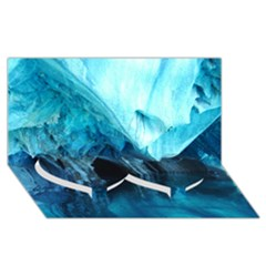 Marble Caves 3 Twin Heart Bottom 3d Greeting Card (8x4)  by trendistuff